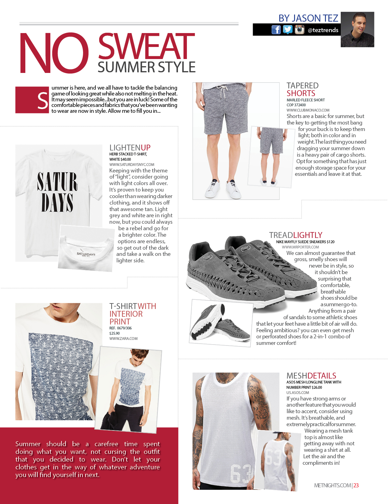 No Sweat Summer Style