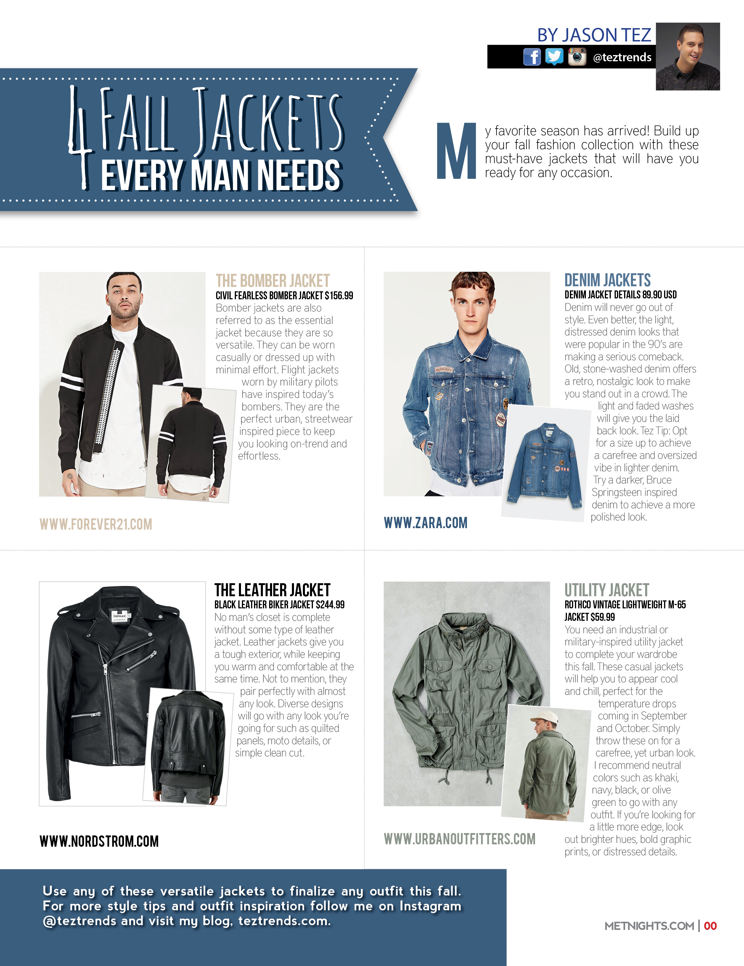 4 Fall Jackets Every Man Needs