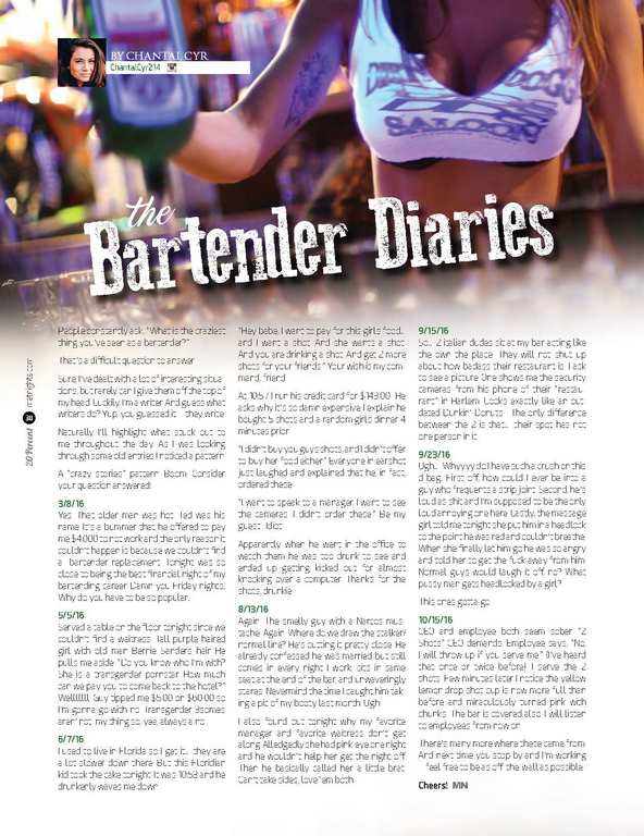 Bartender Diaries