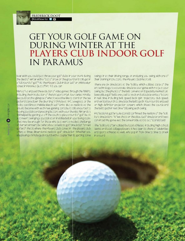 Get Your Golf Game on during Winter at The Players Club Indoor Golf in Paramus