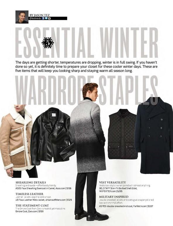 5 Essential Winter Wardrobe Staples