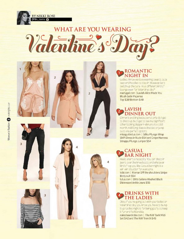 What are you wearing on valentines day?