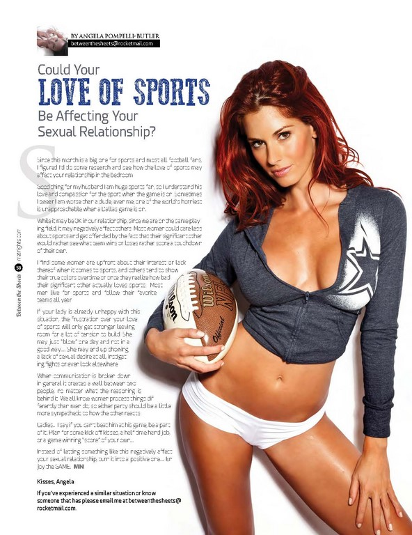 COULD YOUR LOVE OF SPORTS BE AFFECTING YOUR SEXUAL RELATIONSHIP!?!