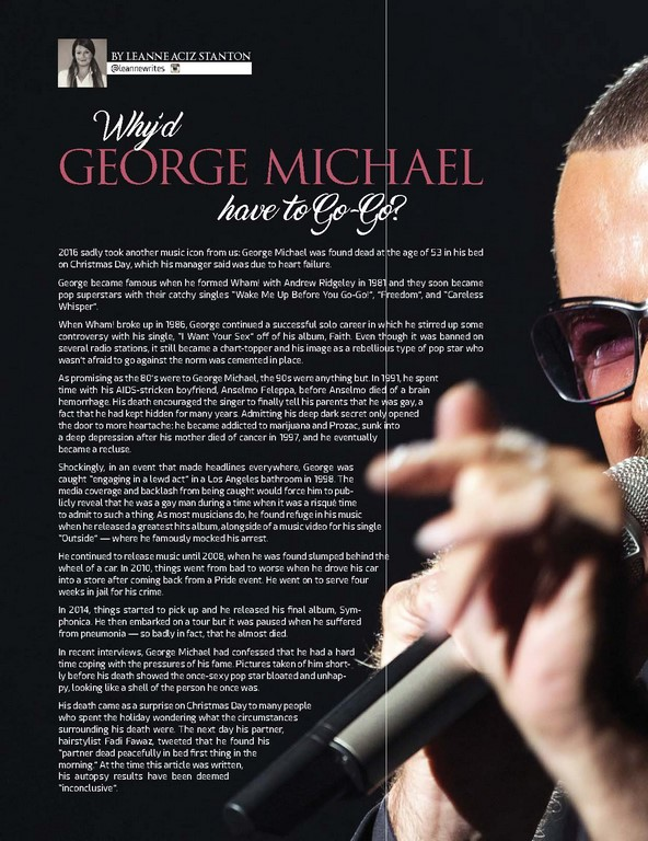 Why'd George Michael Have To Go-Go?