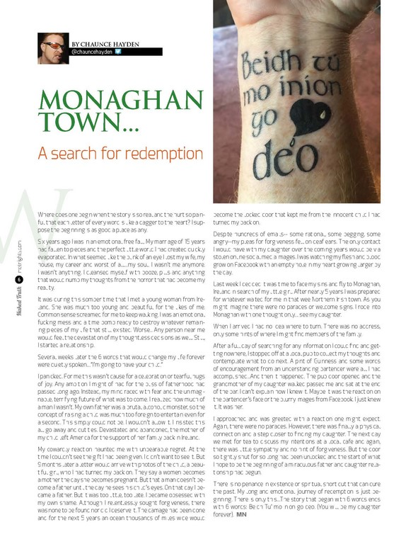 Monaghan Town…. A search for redemption.