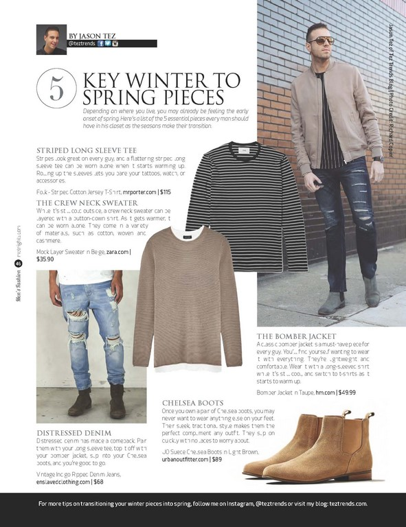 5 Key Winter to Spring Pieces