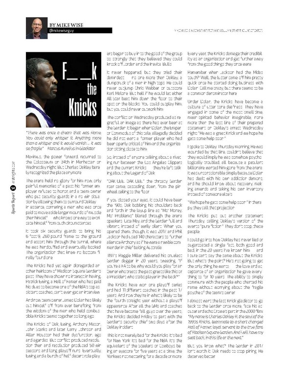 F–k The Knicks!
