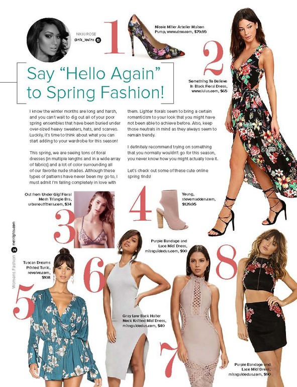 "Say ""Hello Again"" to Spring Fashion!"