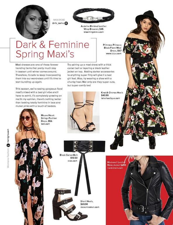 Dark & Feminine Spring Maxi's