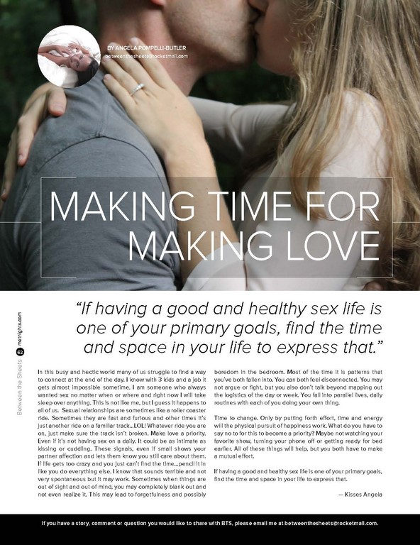 Making time for making love.