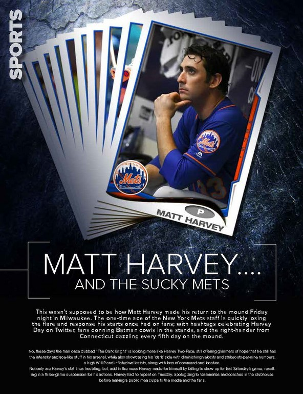 Matt Harvey….  and the sucky Mets