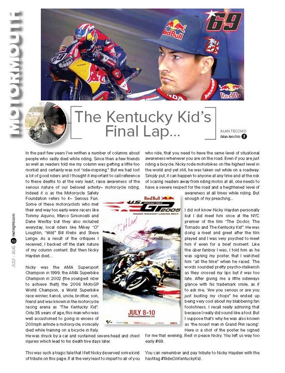 The Kentucky Kid's Final Lap…