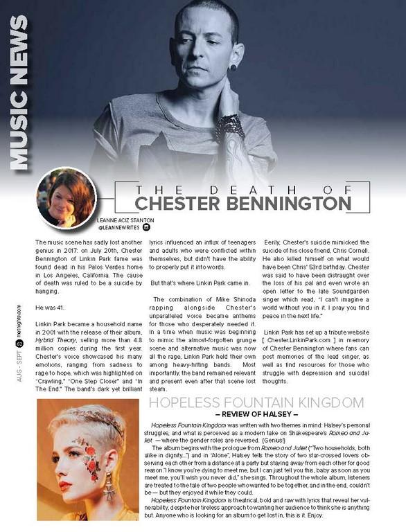 T H E D E A T H O F Chester Bennington