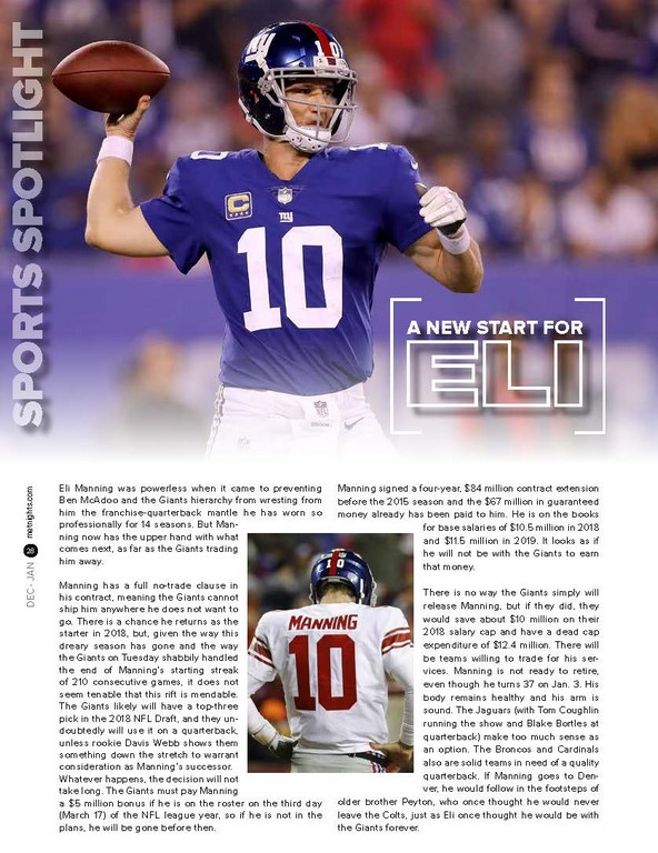 A NEW START FOR ELI