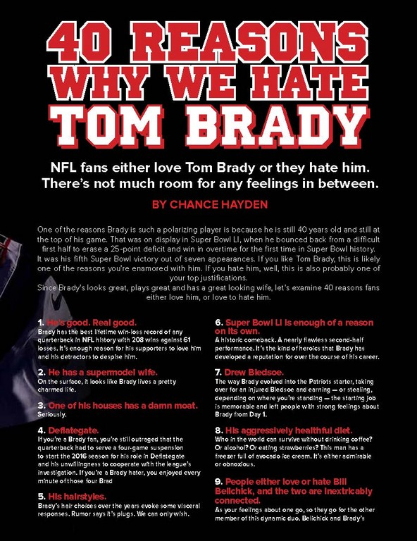 WHY WE HATE TOM BRADY