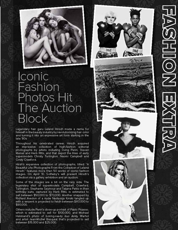 ICONIC FASHION PHOTOS HIT THE AUCTION BLOCK