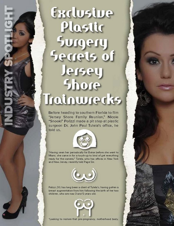 EXCLUSIVE PLASTIC SURGERY SECRETS OF JERSEY SHORE TRAINWRECKS
