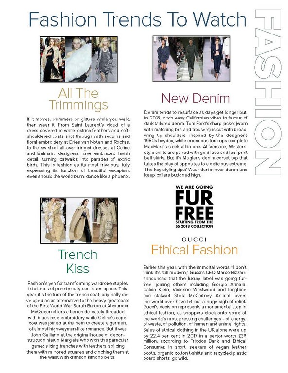 FASHION TRENDS TO WATCH