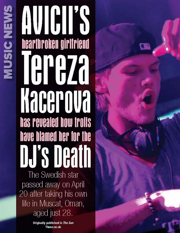 AVICII'S Heartbroken Girlfriend TEREZA KACEROVA