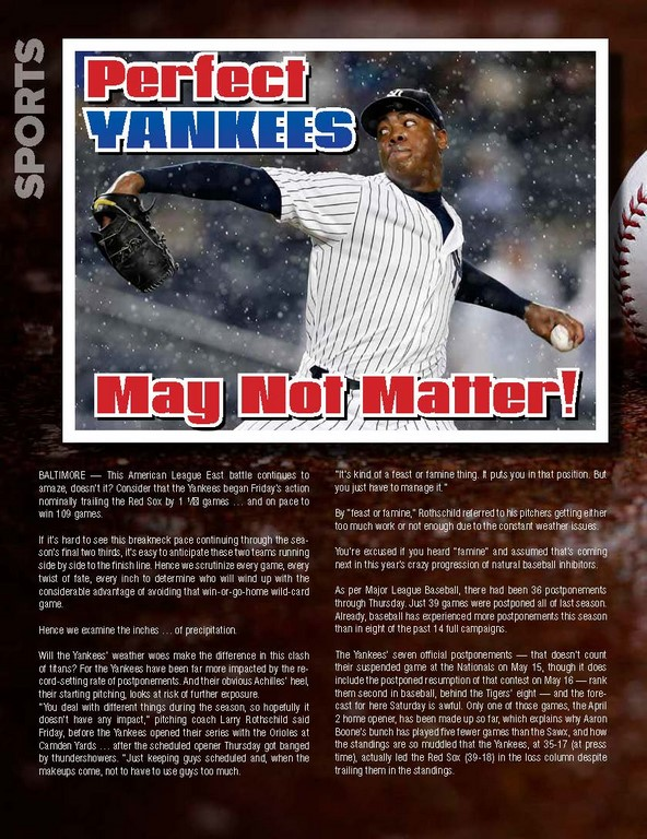 Perfect YANKEES May Not Matter!