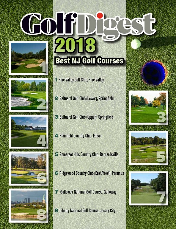 GOLF DIGEST 2018 Best NJ Golf Courses