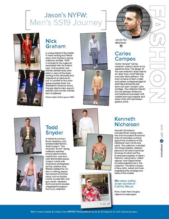 Jason's NYFW: Men's SS19 Journey