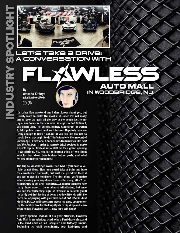 Let's Take a Drive: A Conversation with  FLAWLESS AUTO MALL