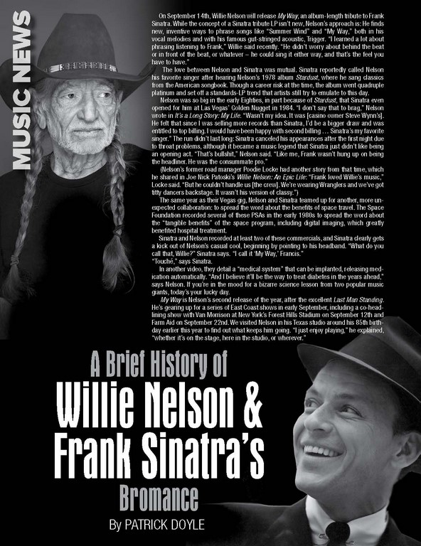 A Brief History of Willie Nelson & Frank Sinatra's Bromance