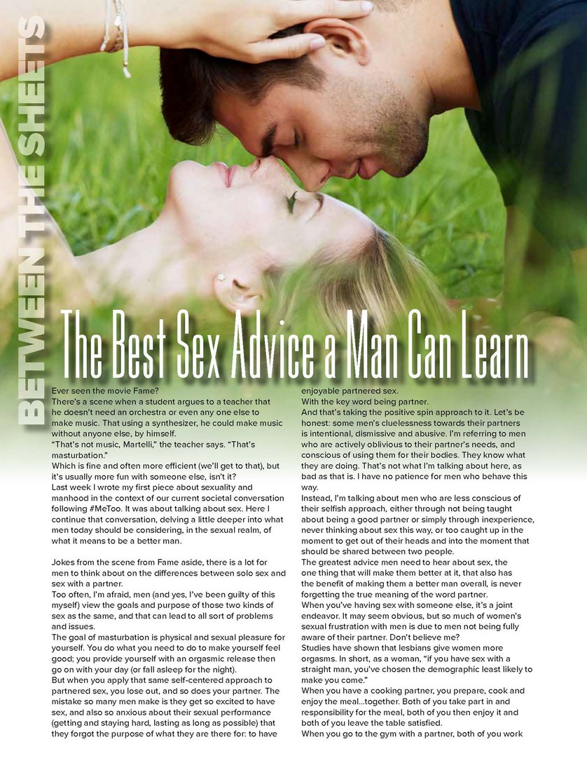 The Best Sex Advice a Man Can Learn