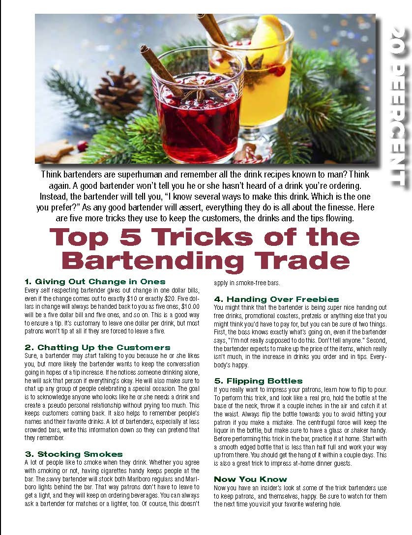 Top 5 Tricks of the Bartending Trade