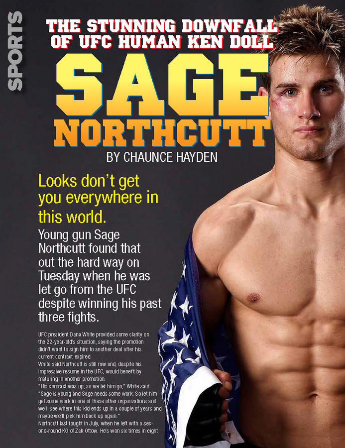 The Stunning Downfall Of UFC Human Ken Doll Sage Northcutt