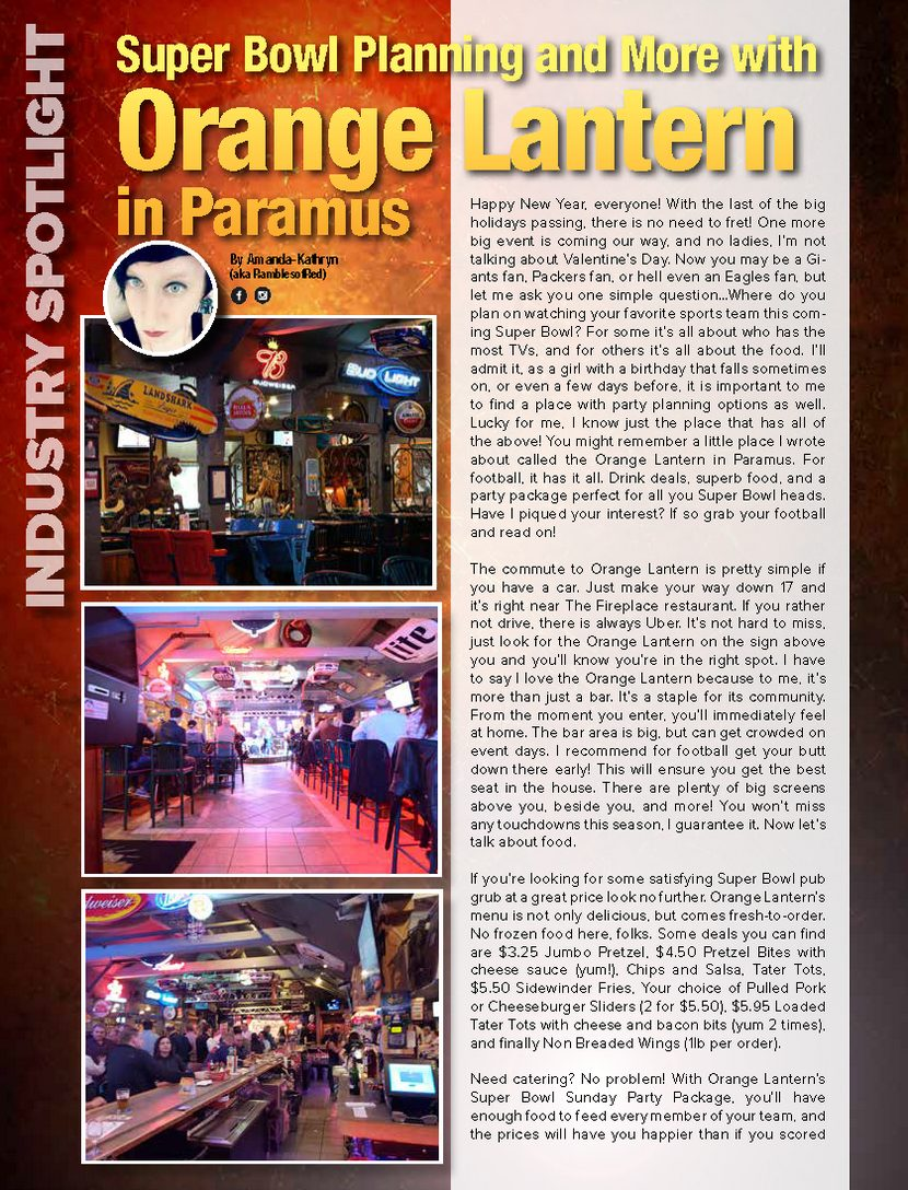 Super Bowl Planning and More with Orange Lantern in Paramus