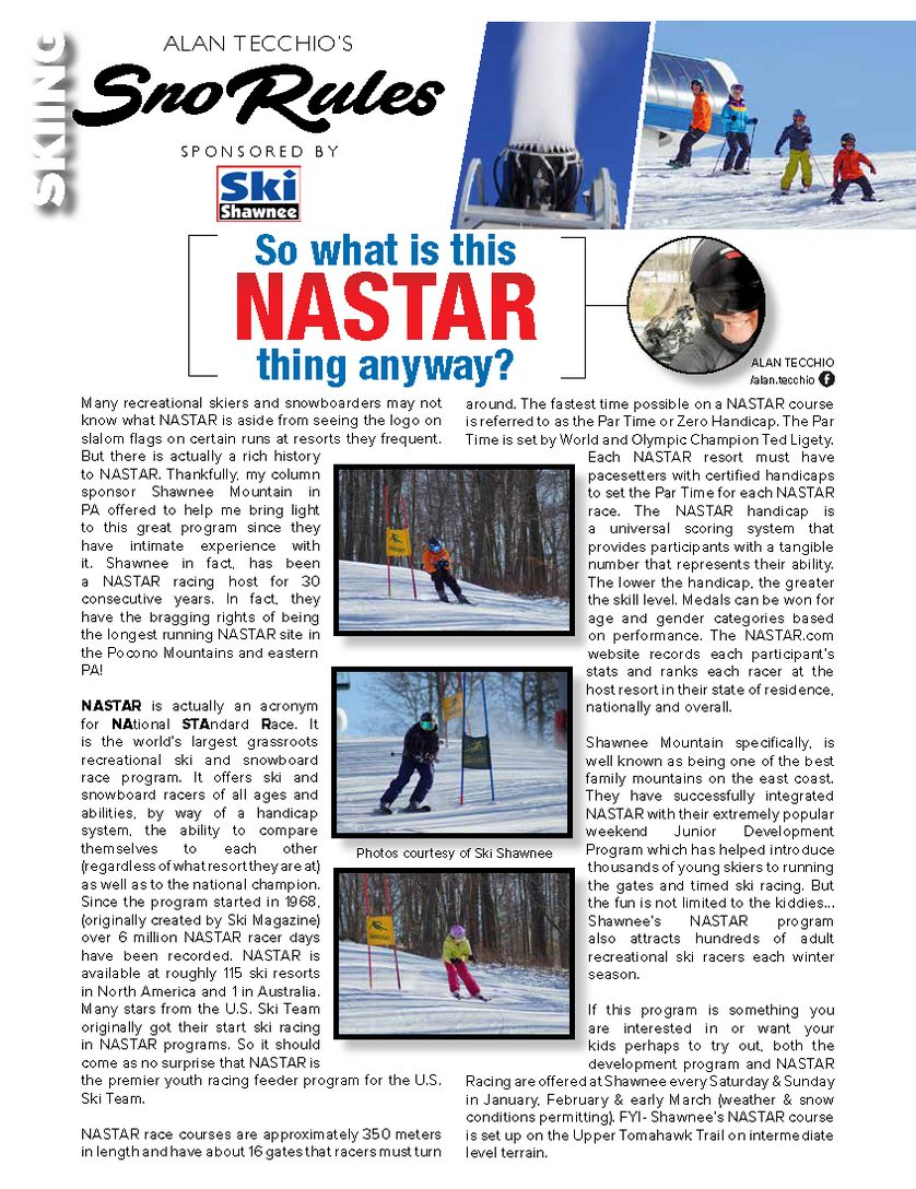 So what is this NASTAR thing anyway?
