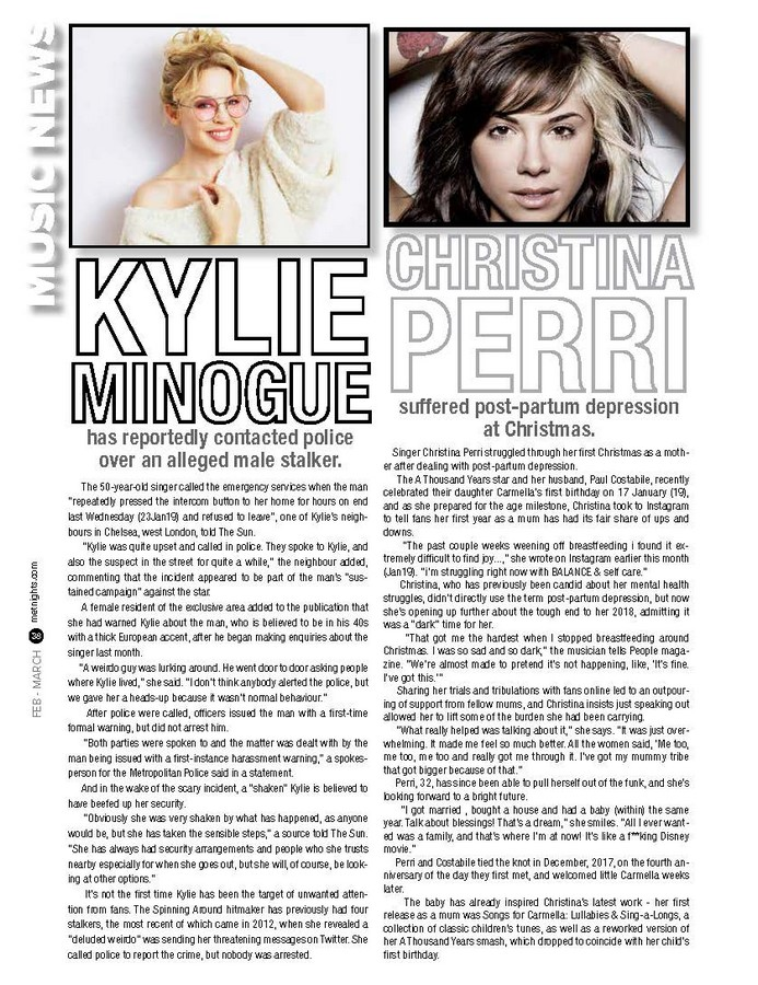 Kylie Minogue and Christina Perri