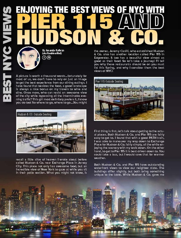 Enjoying the Best Views of NYC with Pier 115 Hudson & Co.