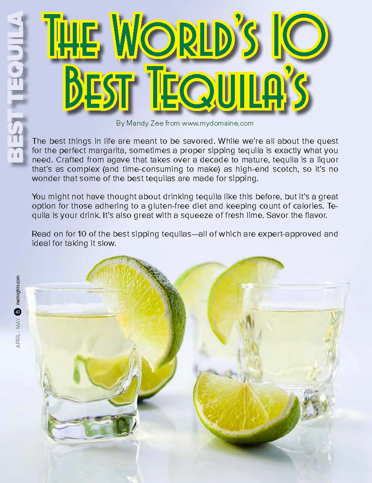THE WORLDS'S 10 BEST TEQUILA'S