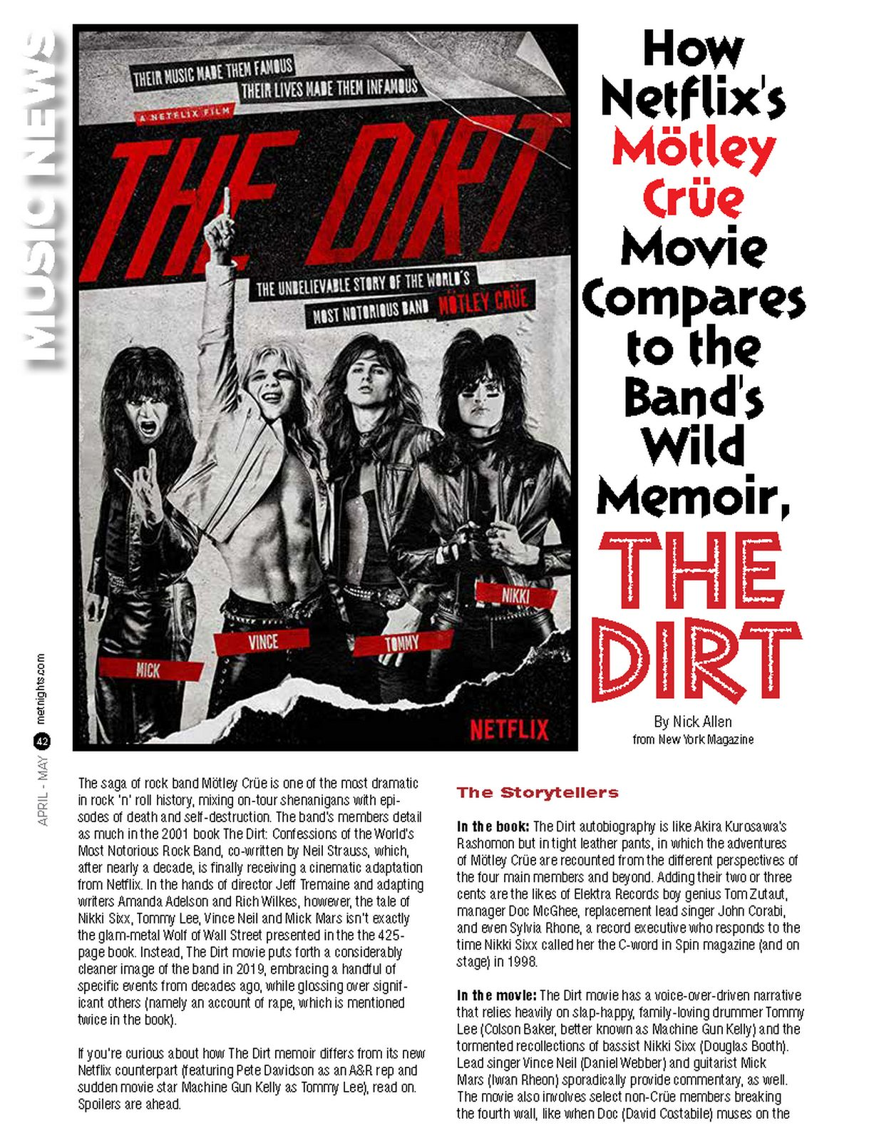 HOW NETFLIX'S MOTLEY CRUE MOVIE COMPARES TO THE BAND'S WILD MEMOIR, THE DIRT