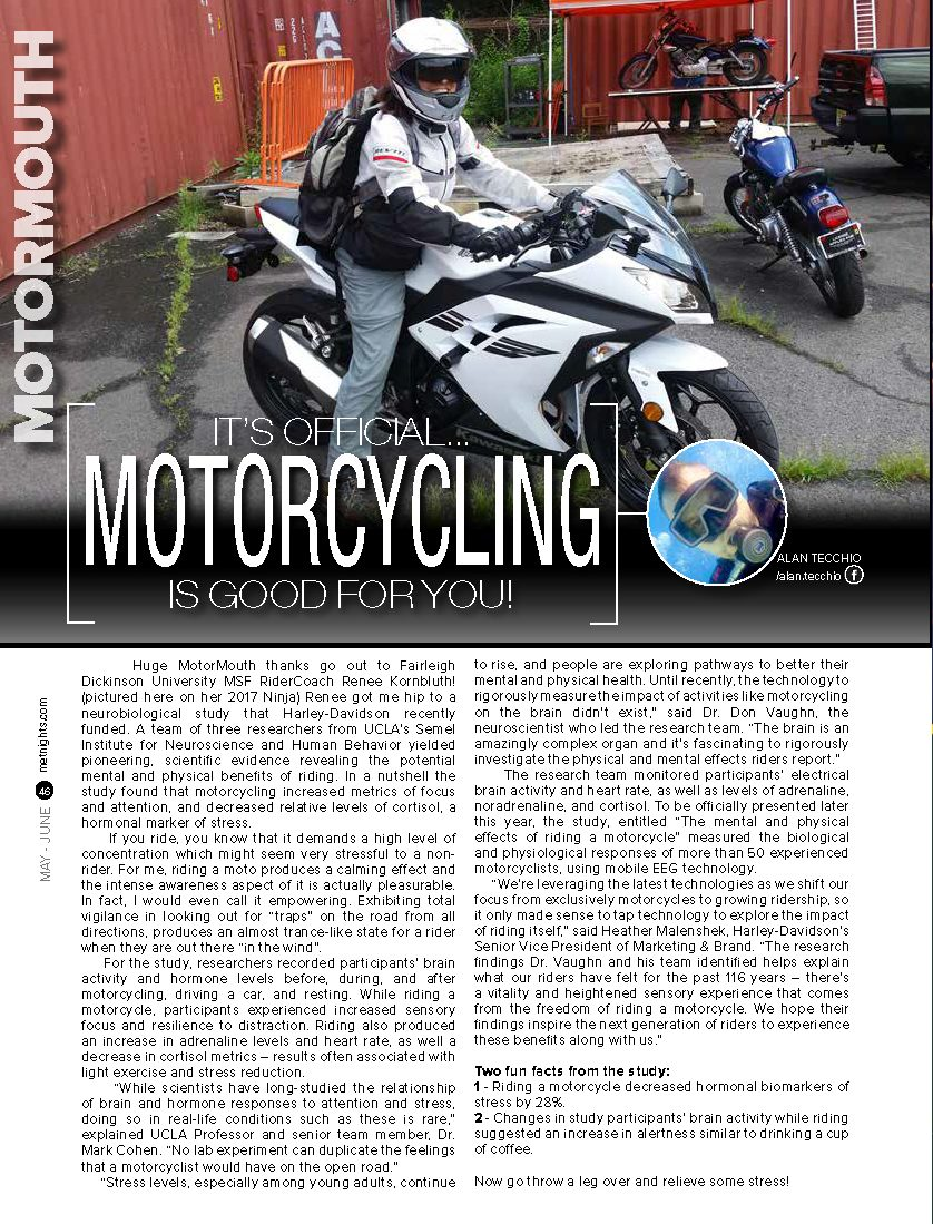 It's Official… Motorcycling is good for you!