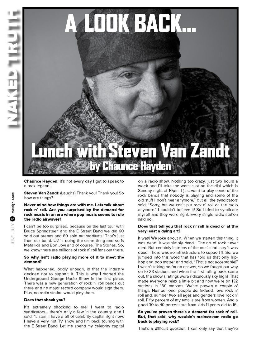 Lunch with Steven Van Zandt by Chaunce Hayden