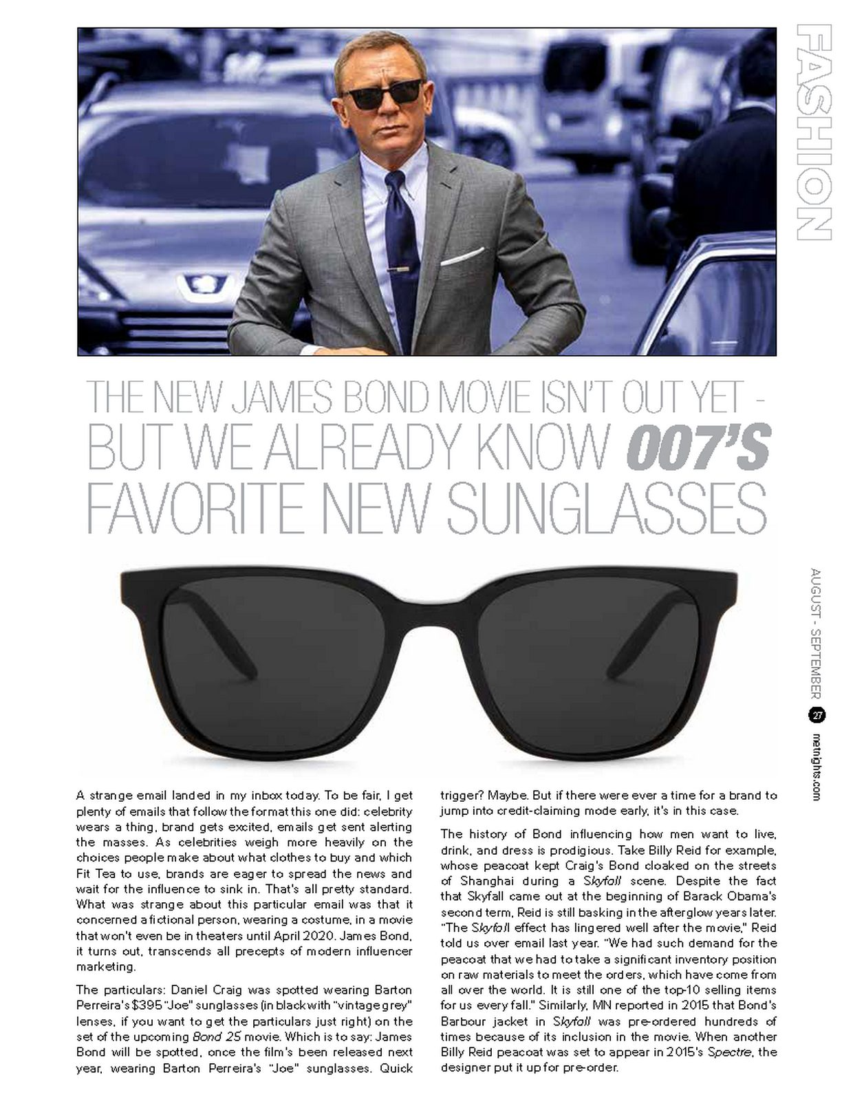 007'S FAVORITE NEW SUNGLASSES