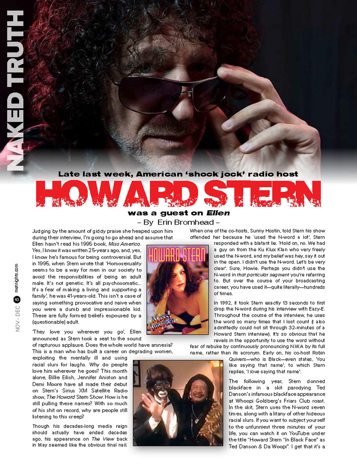 HOWARD STERN was a guest on Ellen
