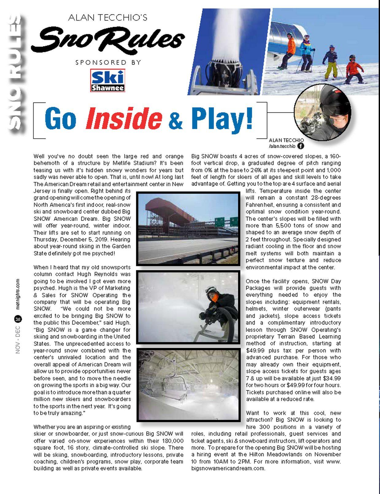 Go Inside & Play!