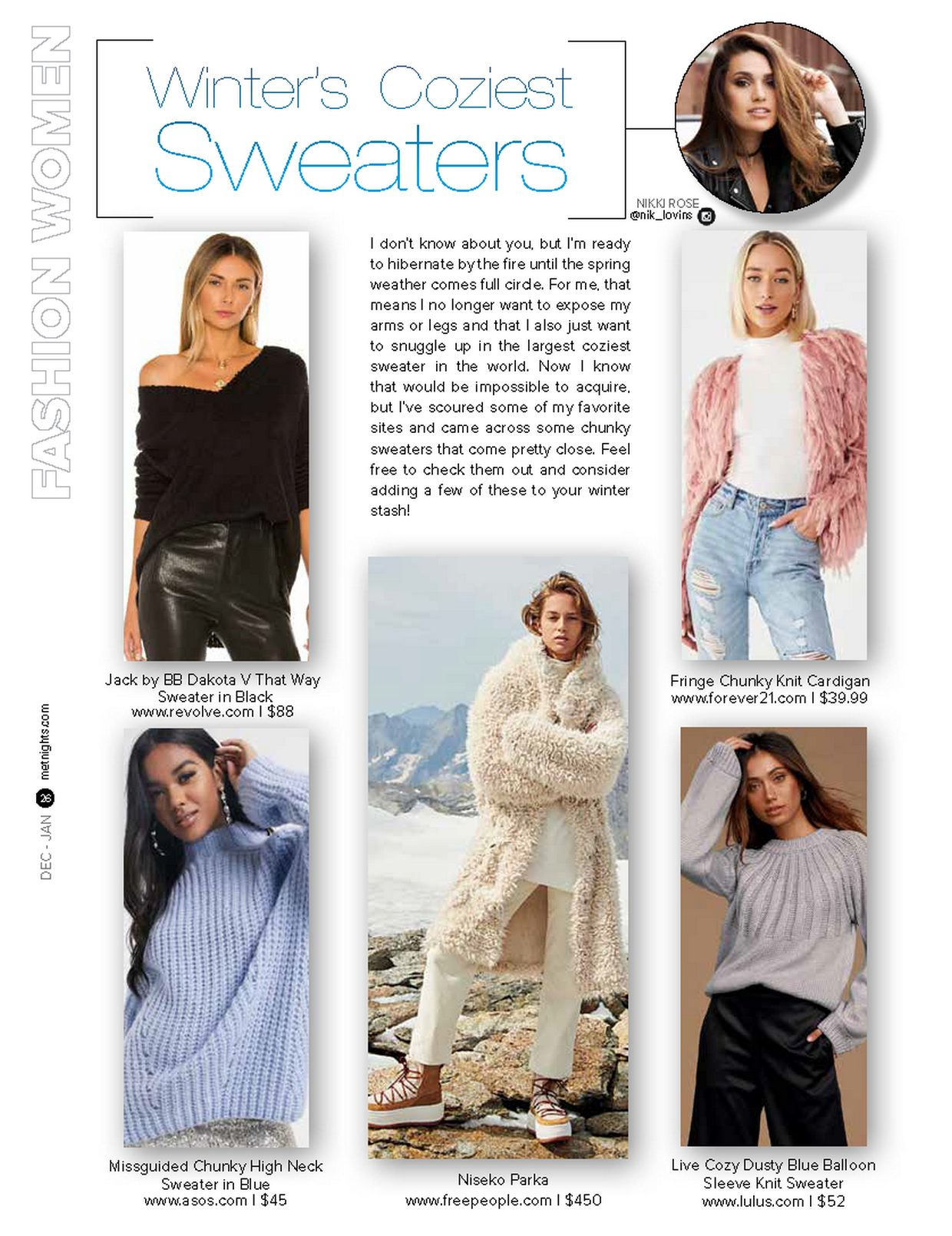Winter's Coziest Sweaters