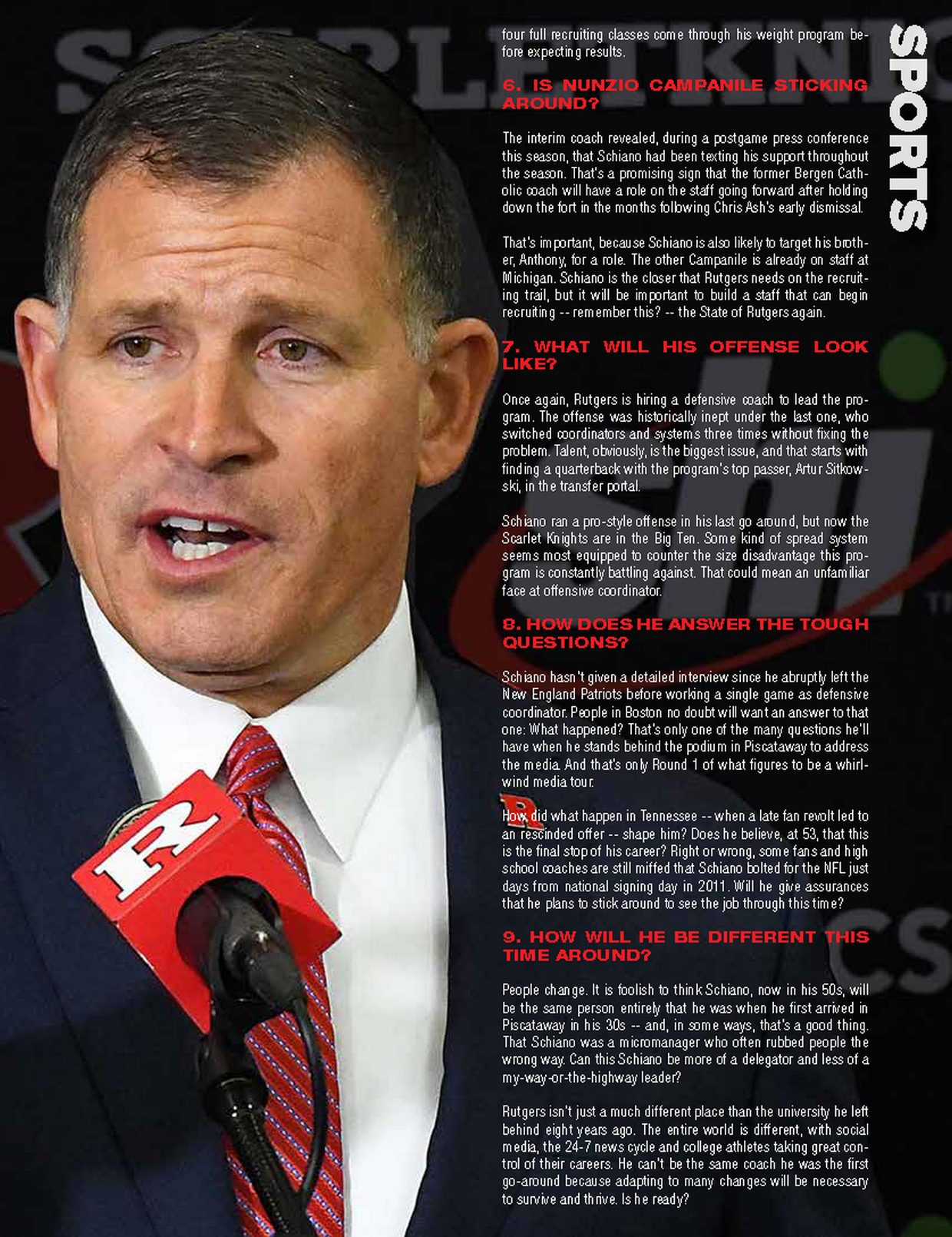 Greg Schiano 9 unanswered questions as Rutgers prepares to re-introduce the coach