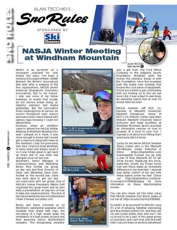 NASJA Winter Meeting at Windham Mountain