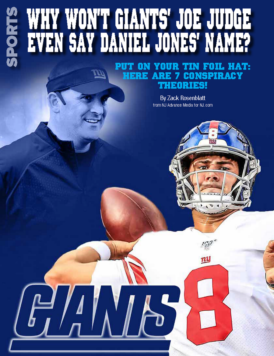 WHY WON'T GIANTS' JOE JUDGE EVEN SAY DANIEL JONES' NAME?
