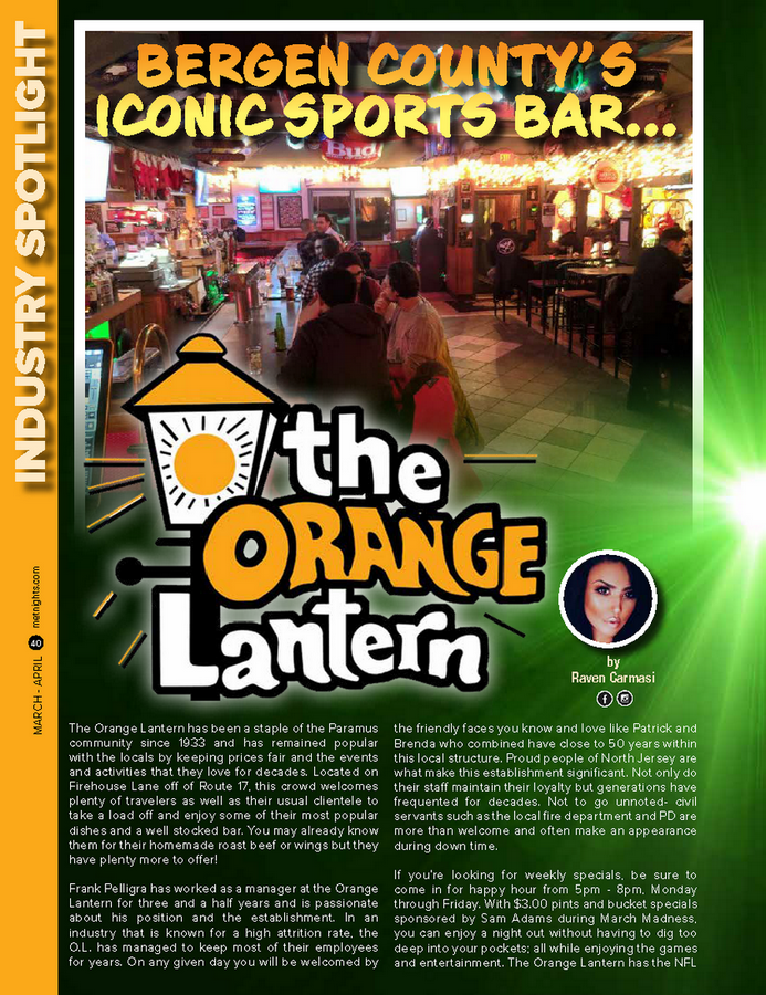 BERGEN COUNTY'S ICONIC SPORTS BAR… THE ORANGE LANTERN